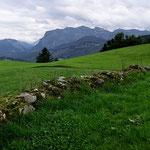 Panorama von der Niedere/Winterstaude bis zur Mörzelspitze
