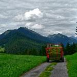 Bei schönem Wetter habven die Alpbauern jede Menge Heuarbeit.