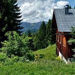 Alpe Stein. Blkick Richtung Hochälpelekopf