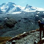 Breithorn und Kleines Matterhorn mit Theodulgletscher