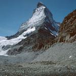 Herrlich freier Blick auf die Ostwand des Matterhorns