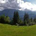 Kanisfluh von der Terrasse des Berghauses Sonderdac
