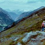 Almageller Hoehenweg - Blick auf Berner Alpen und Bietschhorn