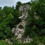 """Ein """"Gesicht"""" aus Fels in der Nähe des Klosters, Aufnahme 05.06.2017"""