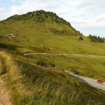 Alpe Portla und Portlakopf vom Rueckweg zum Parkplatz