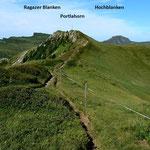 Portlahorn und Damuelser Kamm vom Suenser Weg