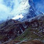 Das Matterhorn vom Weg zum Hirli nahe des Schwarzsees