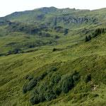 Rueckblick vom Weg zum Portlasattel auf die Suenserspitze
