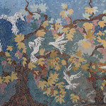 Fresque murale en mosaïque