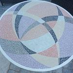 Table d'extérieur en mosaïque