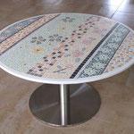 Table d'extérieur en mosaïque (90cm de diamètre)