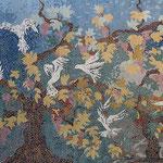 Fresque murale en mosaïque (130x270cm)