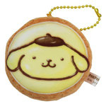 ポムポムプリン もっちりアイシングクッキーマスコット。ボールチェーンつきです。サイズ:直径約75×34mm 税込¥550