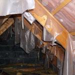 Délitement d'une sous toiture