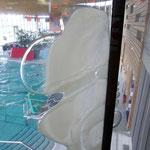 Dégradation de doublmes vitrages sur une piscine chlorée