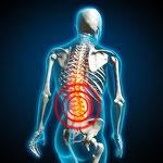 Rückenschmerzen sind oft Anzeichen für eine Strahlenbelastung am Schlaf- oder Arbeitsplatz