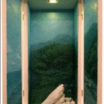 『mindscape-山河空海-』2011 / mixed media / H710㎜×W380㎜(扉開放時W610㎜)×D210㎜ /