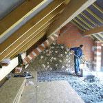 isolation phonique cellulose en vrac, nouveau plancher