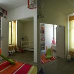 aire de jeux, double porte entre chambres