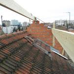 nouvelles pannes de toiture et surélévation des pignons