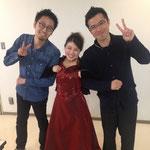 オペラ《ラ・ボエーム》ムゼッタ役で出演いたしました。左は演出家の田中さん、右は指揮者の柴田さん♪