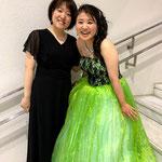 東京でのコンクール後。ピアノの裕子ちゃん、ありがとうございました♪
