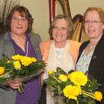v.l.n.r. Elke Mencke, Anke Heesemann-Prenzler und Reinhild Morisse