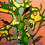 'Tree Nest', mixed media on board, 10cm X 12cm