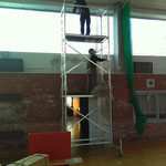 Netze für Sporthalle