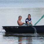 Muckersee - Im Fischerboot unsere Hausherren