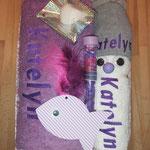 Kombi GRAU Badetuch lila (oder jede andere Badetuchfarbe)/ Handtuch Weiss/ Lumpen grau