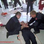 Auch bei der Strahlenschutzvortbildung steht Erste Hilfe auf dem Programm