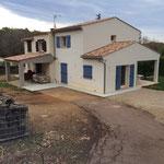 Agrandissement et surélévation d'une villa à Roquefort-les-Pins
