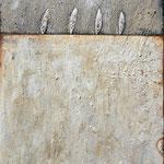 Gedankenräume; Eitempera auf Leinwand mit Sand, 2018, 100 x 140 cm