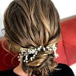 Braut styling #Braut Haarschmuck # Braut Frisur #Mobile Visagistin #Braut Hairstylist