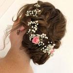 Braut styling #Braut Haarschmuck # Braut Frisur #Mobile Visagistin