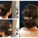 Braut styling #Braut Frisur # Braut Hochsteckfrisur #Mobile Visagistin #Braut Hairstyling #Haarschmuck