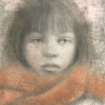 「dessinー襟巻ー」 2015/12 (A4 パステル等/紙)