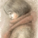 「dessinー横顔ー」 2015/12 (A4 パステル等/紙)