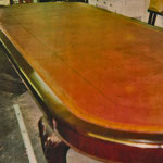 Created leather conference table top with gold and blind tooling