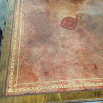 Damaged antique leather desk top