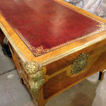 18th century French desk ... Antique leather restored!