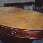 On Site Restoration: Oval 16 ft. leather conference table