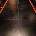 Leather conference table restored