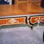 After Restoration: Antique leather desk top