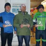 die Sieger (vlnr: 3. Günter Wolfrum, 1. Christian Schmidtner, 2. Denis Zschiesche)