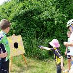 für die Kleinen gab es wieder eine Adaption des Köschinger Biathlons