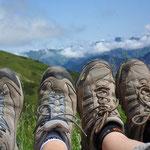 Wanderpause in den Allgäuer Bergen