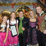 18.11.2011 Herbert Roth Gala MDR (Suhl) mit Selina & Laureen, Stefanie Hertel und Eberhard Hertel
