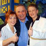 13.01.2005 Achims Hitparade (Plauen) mit Romy und Produzent David Ritt